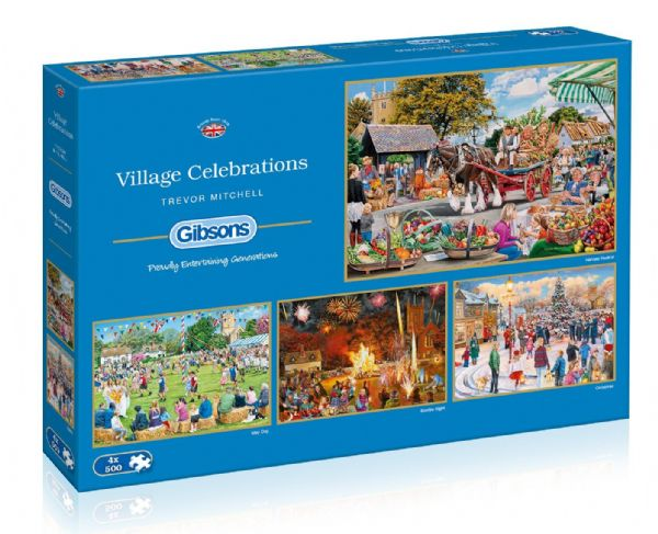 Village Celebrations. 4x 500 Gibsons jigsaws.